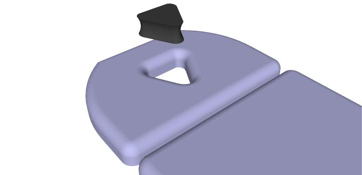 Nasenschlitz - Dreieckiger Nasenschlitzkeil
