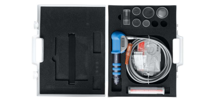 Hier sehen Sie das Produkt Swiss DolorClast - Handstück-Set EVO Blue aus der Kategorie . Ein Artikel erhältlich bei MTR Equipments.