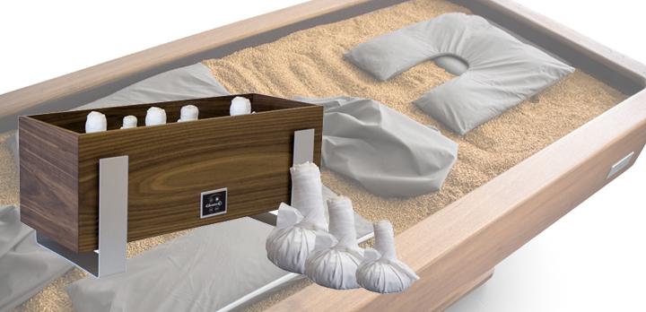 Quarz-Stempel-Wärmer-Set mit  Sandliegenzubehör