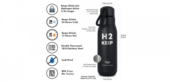 Qlife H2 Keep Bottle